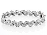 White Cubic Zirconia Rhodium Over Sterling Silver Bracelet 5.20ctw