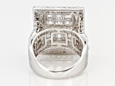 White Cubic Zirconia Silver Statement Ring 8.48ctw