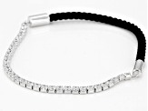 White Cubic Zirconia Rhodium Over Sterling Silver Bracelet 3.36ctw