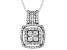 White Cubic Zirconia Rhodium Over Sterling Silver Pendant With Chain 1.77ctw