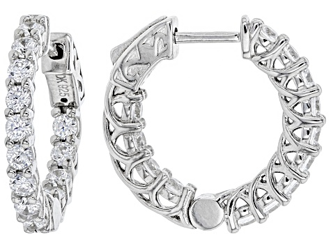 White Cubic Zirconia Rhodium Over Sterling Silver Earrings 2.75CTW