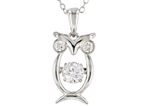White Cubic Zirconia Rhodium Over Sterling Silver Pendant With Chain 1.05CTW