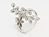 White Cubic Zirconia Rhodium Over Sterling Silver Ring 0.78CTW