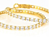 White Cubic Zirconia 18K Yellow Gold Over Sterling Silver Earrings 8.35CTW