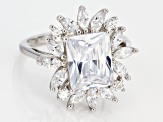 White Cubic Zirconia Rhodium Over Sterling Silver 7.24CTW