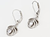 White Cubic Zirconia Rhodium Over Sterling Silver Earrings 1.26CTW