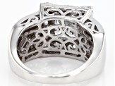 White Cubic Zirconia Rhodium Over Sterling Silver Ring 7.16CTW