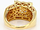 White Cubic Zirconia 18K Yellow Gold Over Sterling Silver Ring 7.16CTW
