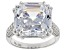 White Cubic Zirconia Rhodium Over Sterling Silver Ring 23.95CTW