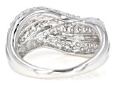 White Cubic Zirconia Rhodium Over Sterling Silver Ring 2.27CTW
