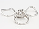 White Cubic Zirconia Rhodium Over Sterling Silver Ring 7.36CTW
