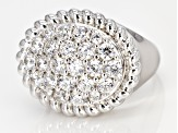 White Cubic Zirconia Rhodium Over Sterling Silver Ring 4.30CTW