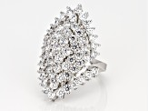 White Cubic Zirconia Rhodium Over Sterling Silver Ring 7.64CTW