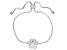 White Cubic Zirconia Rhodium Over Sterling Silver Adjustable Paw Print Bracelet 0.62ctw