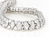 White Cubic Zirconia Rhodium Over Sterling Silver Bracelet 28.00CTW