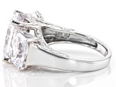 White Cubic Zirconia Rhodium Over Sterling Silver Ring 14.88CTW