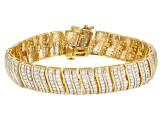 White Cubic Zirconia 18k Yellow Gold Over Sterling Silver Bracelet 10.83ctw