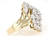 White Cubic Zirconia 18k Yellow Gold Over Sterling Silver Ring 6.95ctw