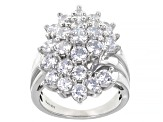White Cubic Zirconia Platinum Over Sterling Silver Ring 6.95ctw