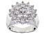 White Cubic Zirconia Rhodium Over Sterling Silver Ring 5.31ctw