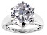 White Cubic Zirconia Platinum Over Sterling Silver Ring 11.90ctw