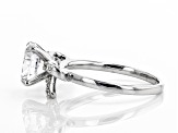 White Cubic Zirconia Rhodium Over Sterling Silver Center Design Ring 3.64ctw.