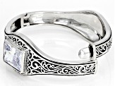White Cubic Zirconia Rhodium Over Sterling Silver Bracelet 22.97ctw