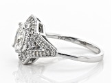 White Cubic Zirconia Rhodium Over Sterling Silver Ring 2.43ctw