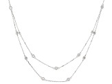 White Cubic Zirconia Rhodium Over Sterling Silver Necklace 3.94ctw