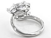 White Cubic Zirconia Rhodium Over Sterling Silver Ring 9.56ctw