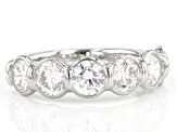 White Cubic Zirconia Rhodium Over Sterling Silver Ring 5.10ctw
