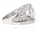 White Cubic Zirconia Rhodium Over Sterling Silver Ring 8.75ctw