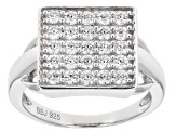 White Cubic Zirconia Rhodium Over Sterling Silver Ring 1.39ctw