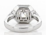 White Cubic Zirconia Rhodium Over Sterling Silver Ring 4.24ctw
