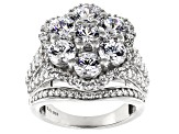 White Cubic Zirconia Rhodium Over Sterling Silver Ring 8.64ctw