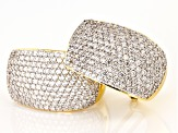 White Cubic Zirconia 18k Yellow Gold Over Sterling Silver Earrings 5.86ctw