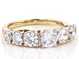 White Cubic Zirconia 18K Yellow Gold Over Sterling Silver Ring 3.85ctw