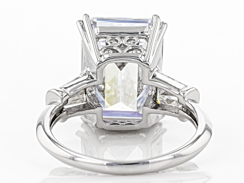 White Cubic Zirconia Rhodium Over Sterling Silver Ring 12.98ctw