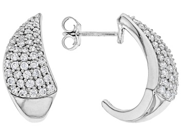 Picture of White Cubic Zirconia Rhodium Over Sterling Silver Earrings 2.25ctw