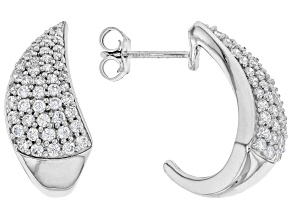 White Cubic Zirconia Rhodium Over Sterling Silver Earrings 2.25ctw