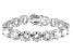 White Cubic Zirconia Rhodium Over Sterling Silver Tennis Bracelet 112.52ctw