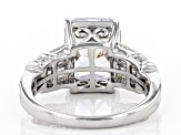 White Cubic Zirconia Rhodium Over Sterling Silver Ring 8.95ctw
