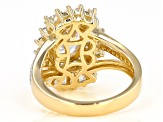 White Cubic Zirconia 18k Yellow Gold Over Sterling Silver Ring 5.90ctw