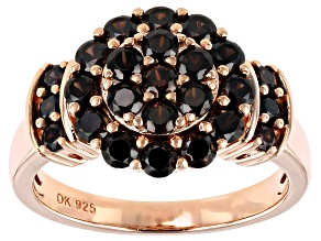 Mocha Cubic Zirconia 18k Rose Gold Over Sterling Silver Ring 2.68ctw