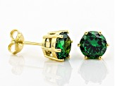 Green Cubic Zirconia 18k Yellow Gold Over Sterling Earrings 6.65ctw