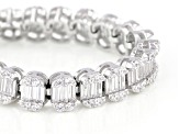 White Cubic Zirconia Rhodium Over Sterling Silver Tennis Bracelet 4.88ctw