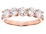White Cubic Zirconia 18K Rose Gold Over Sterling Silver Band Ring 2.25ctw