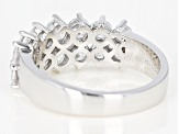 White Cubic Zirconia Rhodium Over Sterling Silver Band Ring 2.70ctw