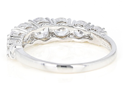White Cubic Zirconia Rhodium Over Sterling Silver Band Ring 3.52ctw
