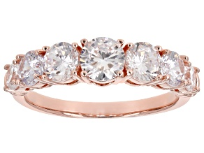 White Cubic Zirconia 18K Rose Gold Over Sterling Silver Band Ring 3.52ctw